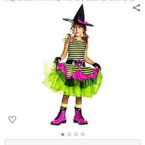 GIRLS WHIMSICAL WITCH COSTUME SZ L10/12